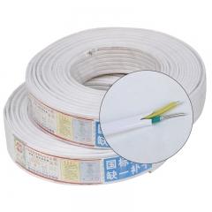 电线电缆 家装电线白色铝芯 2芯 2.5/4/6三芯6平方铝护套电线 BLVVB国标 2*2.5²