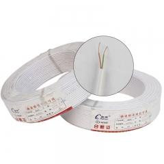 04纯铜 2 芯室内电话线 圆形通信线 足100米 电话线 0.4 双芯