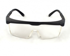 劳保眼镜批发防紫外线电焊眼镜防风防沙防飞溅白平护目镜 可伸缩 黑边蓝片