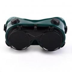 防风防沙防飞溅白平护目镜 防护劳保眼镜电焊眼镜 双翻 电焊眼镜